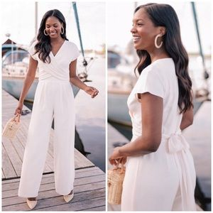 Gal Meets Glam wrap front jumpsuit